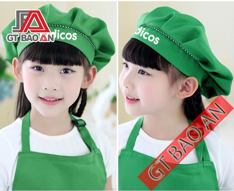 Mẫu nón bếp cho bé