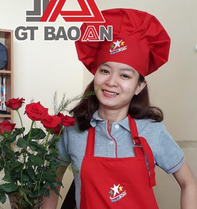 Mẫu nón bếp cho cô giáo