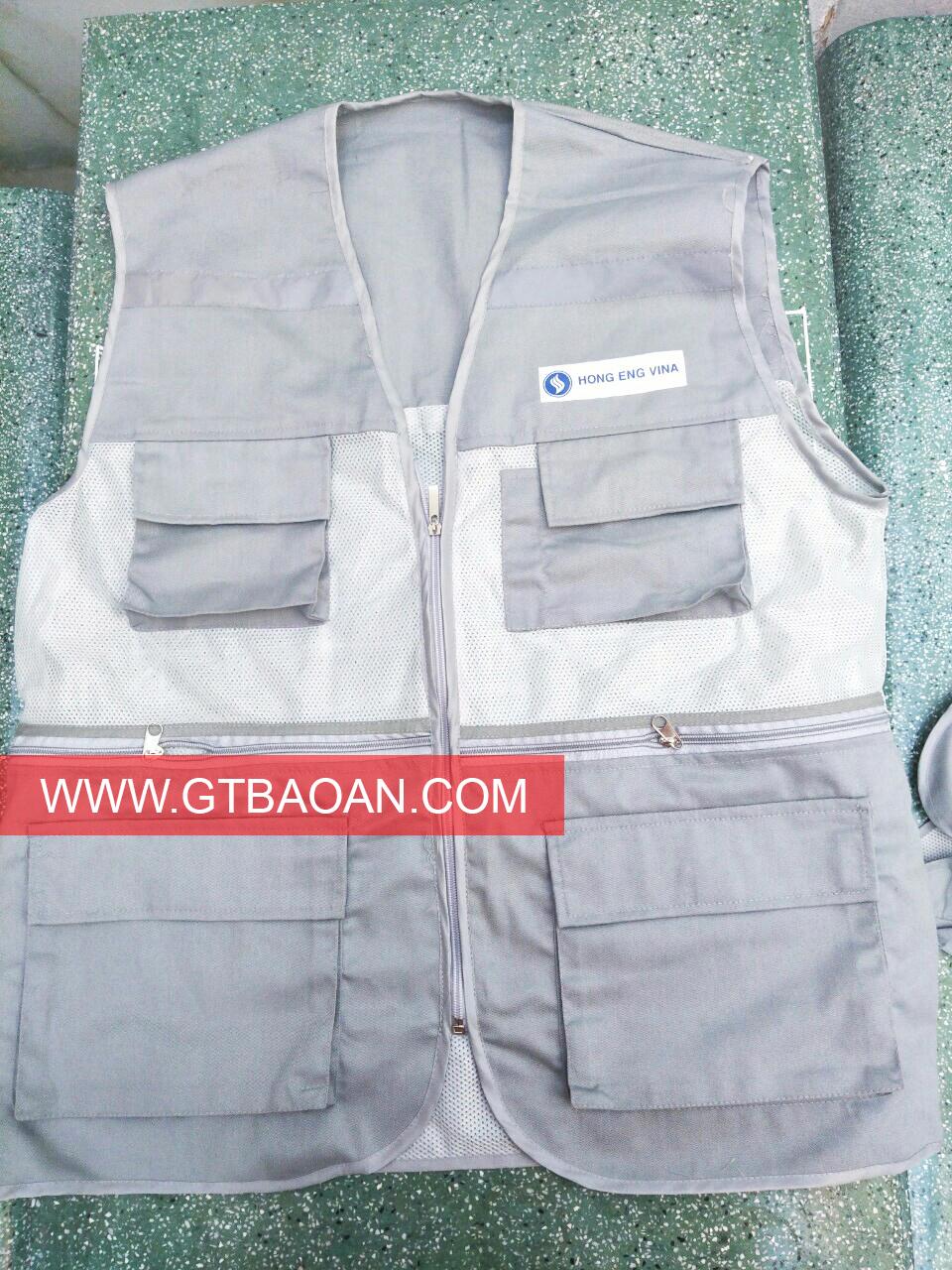 áo ghile lưới cho công nhân