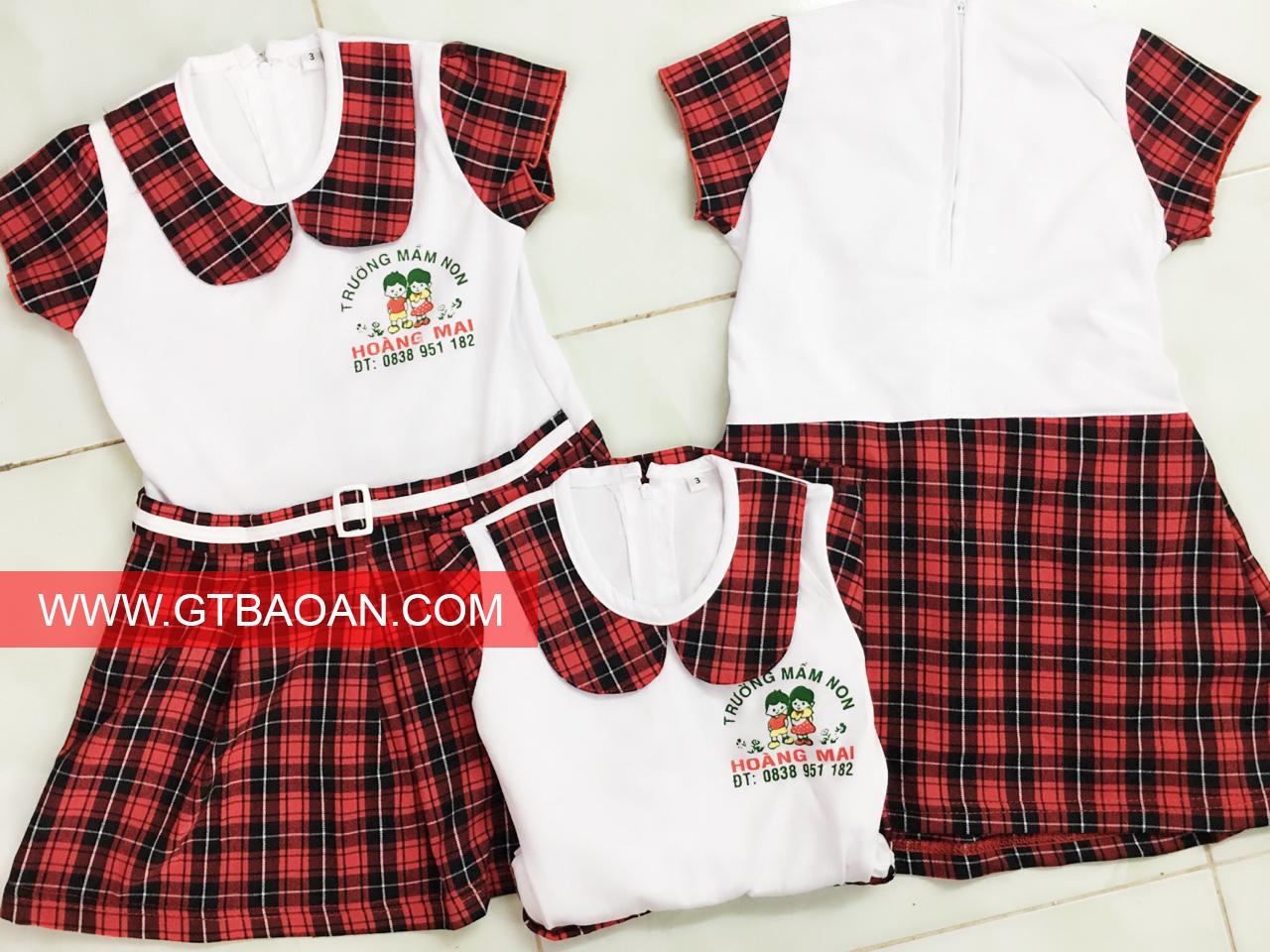 Đồng phục mầm non trường mẫu giáo hoàng mai