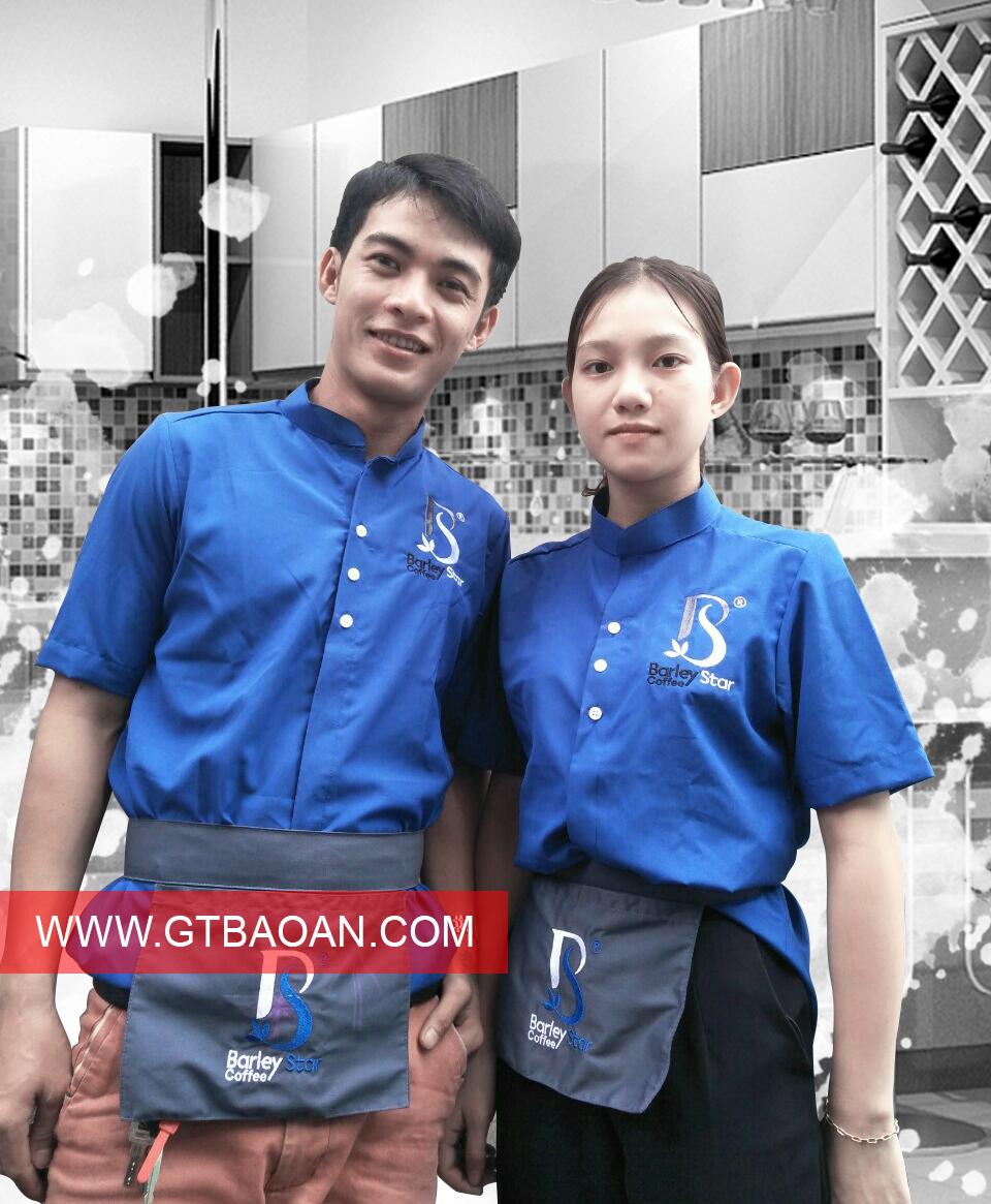 Đồng phuc nhan vien phu vu quan cafe Barley Star