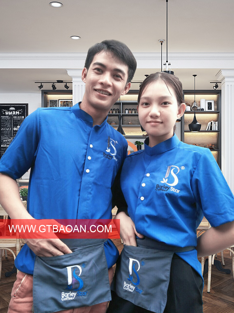 đồng phuc nhan vien phu vu quan cafe Barley Star1