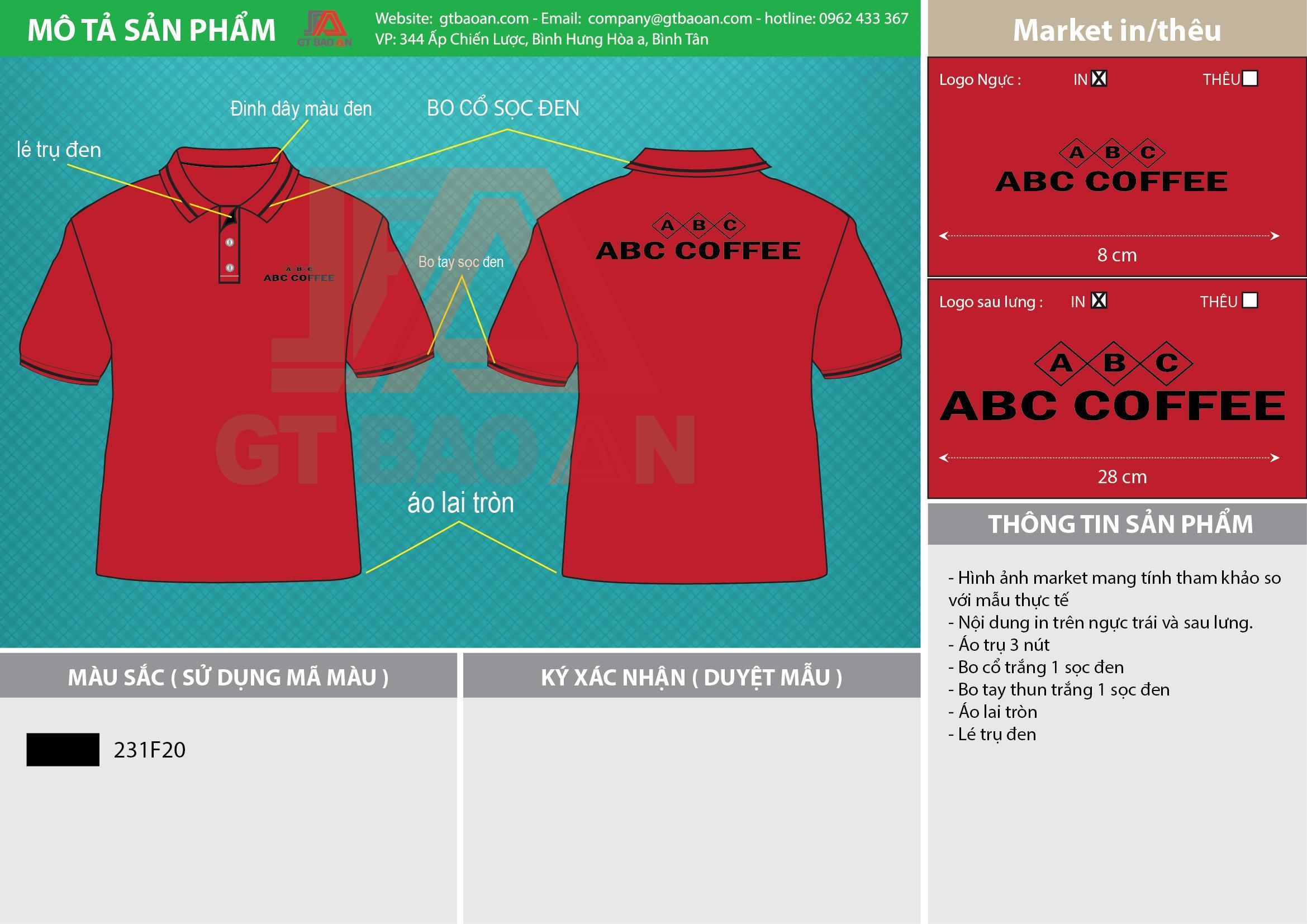 Thiết kế áo thun đồng phục quán