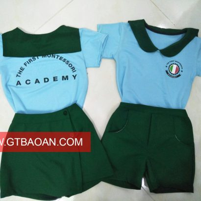 Đồng phục mẫu giao trường Montessori