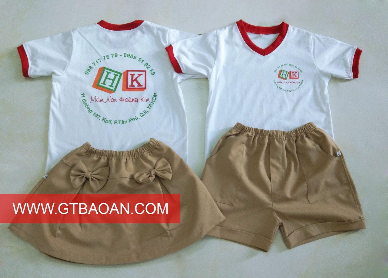 Đồng phục trường mầm non Hoàng Kim