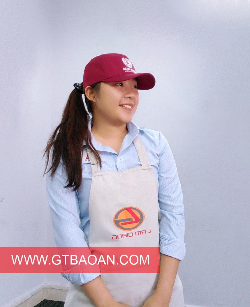 Tạp dề đẹp Lam Giang