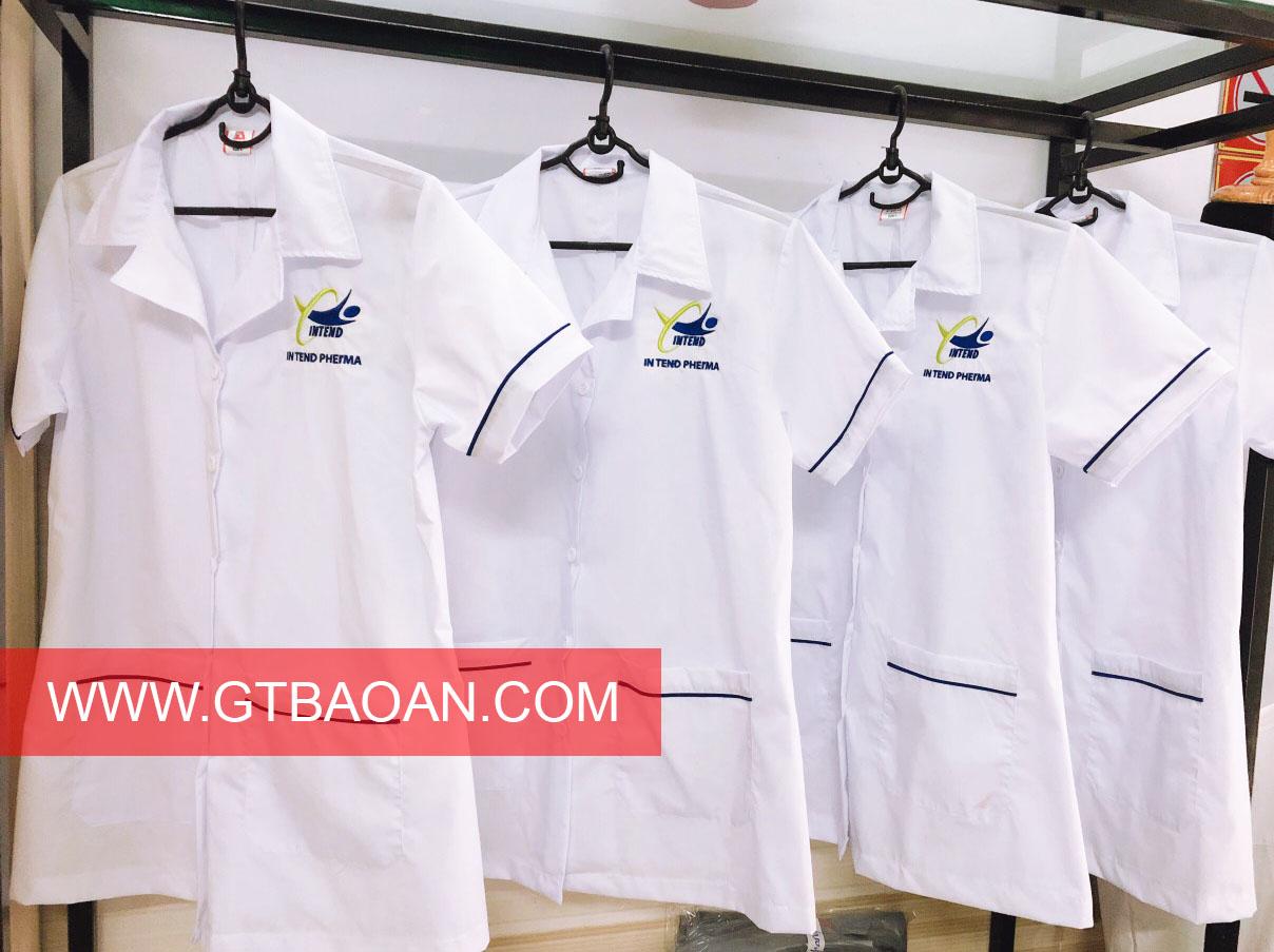 Áo blouse trắng chất lượng cao IN TEND PHERMA