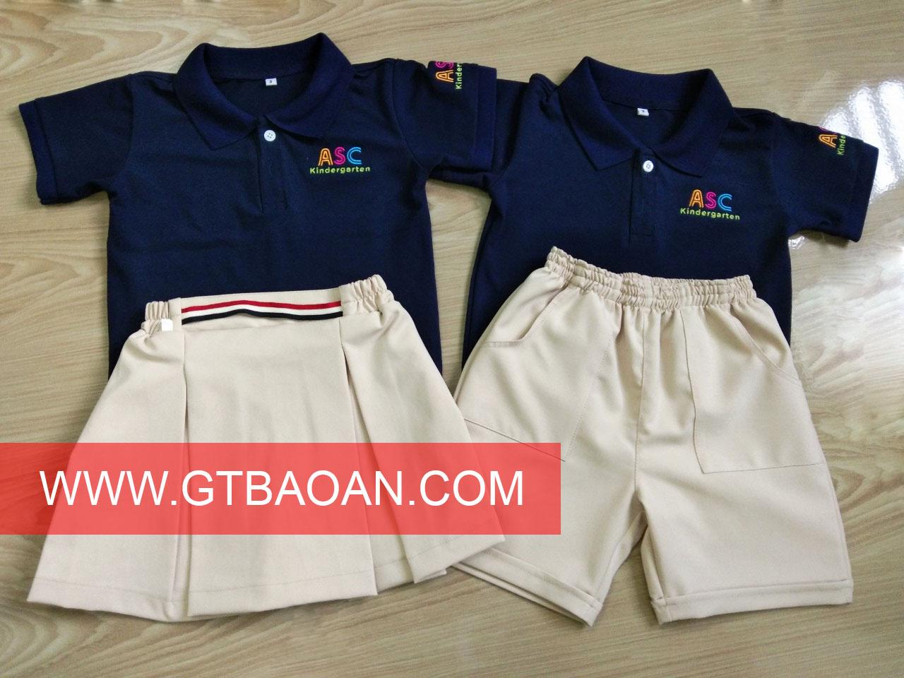 Áo thun đồng phục mầm non trường Nhật ASC