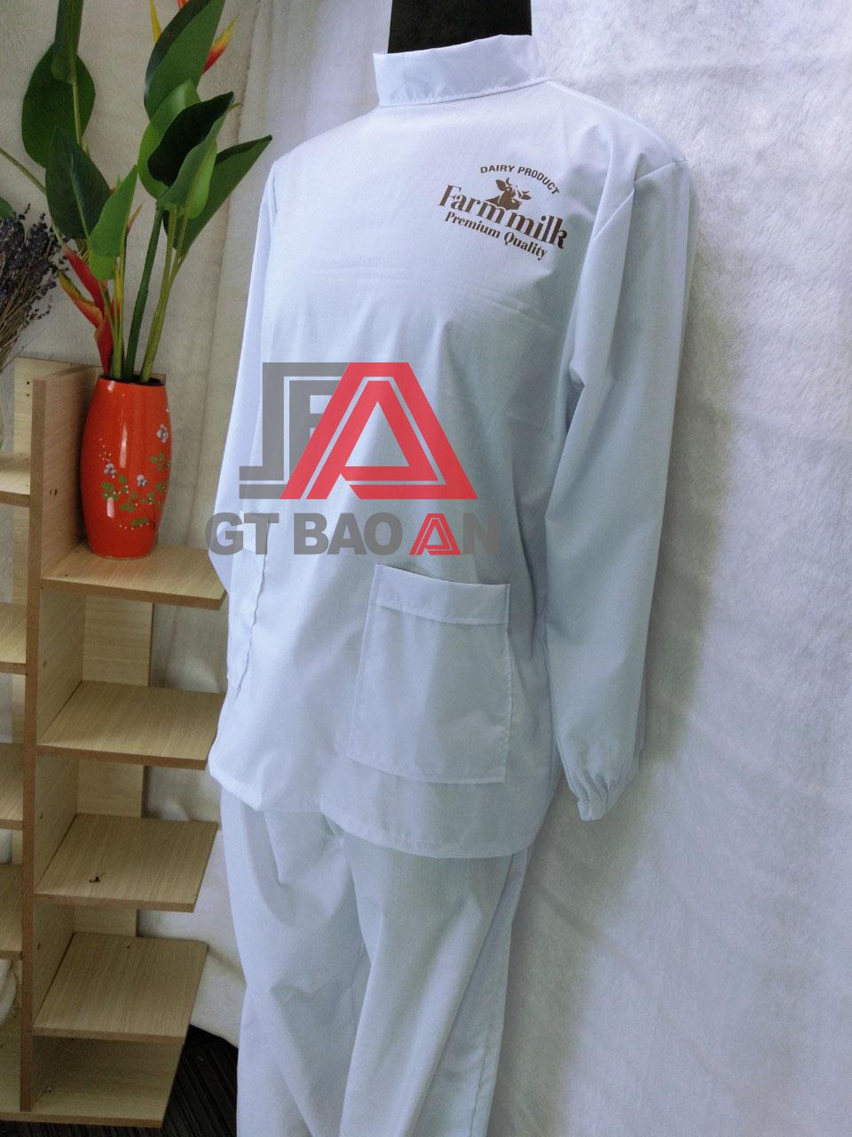 Đồng phục blouse dài tay trong phòng lạnh