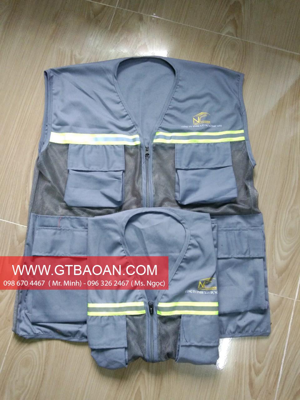 Áo ghile đồng phục nhân viên công ty xây dựng