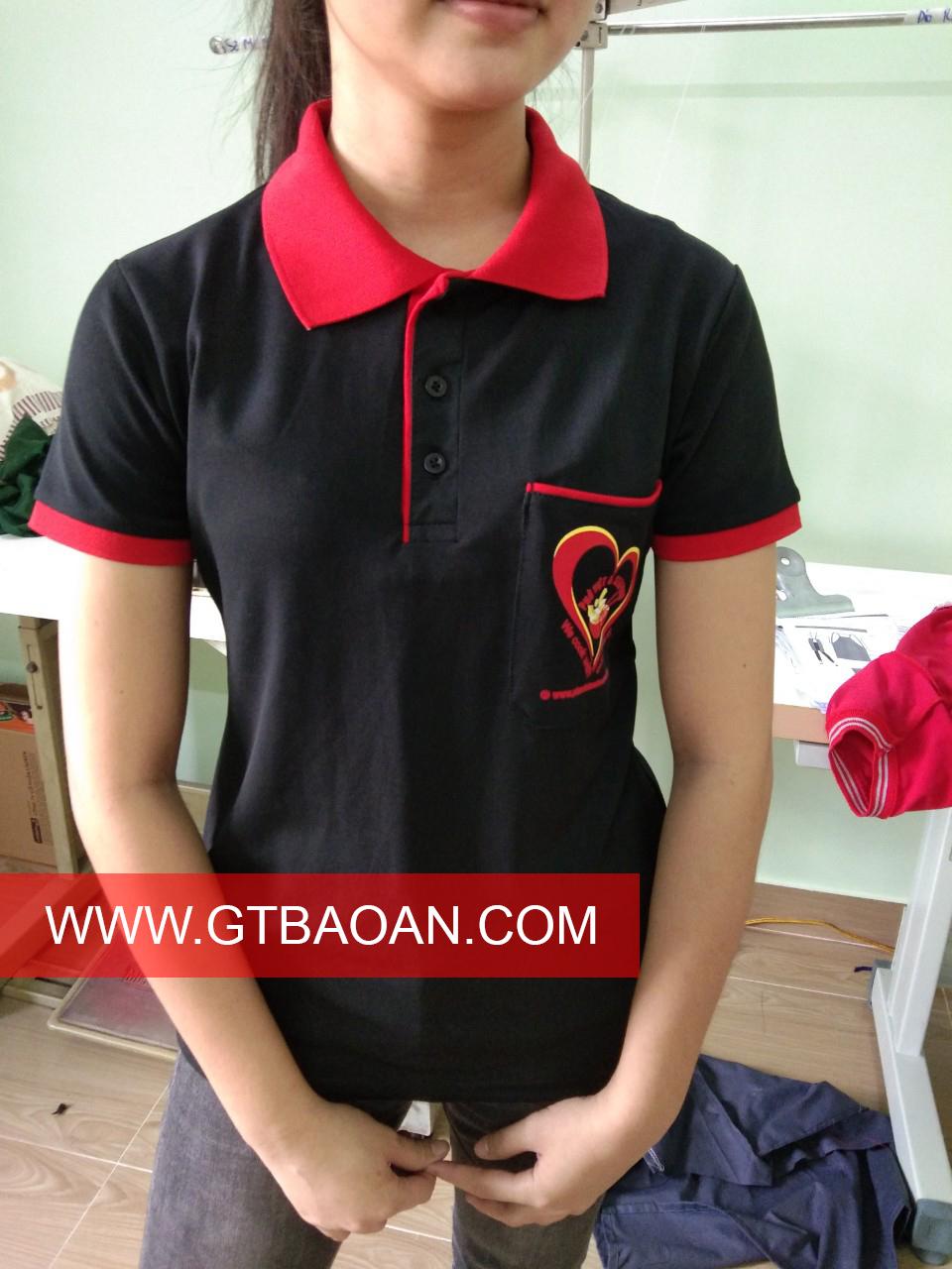 Áo thun cổ trụ đồng phục nhân viên quán Phở Việt
