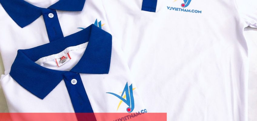Áo thun đồng phục cổ trụ công ty VJVIETNAM