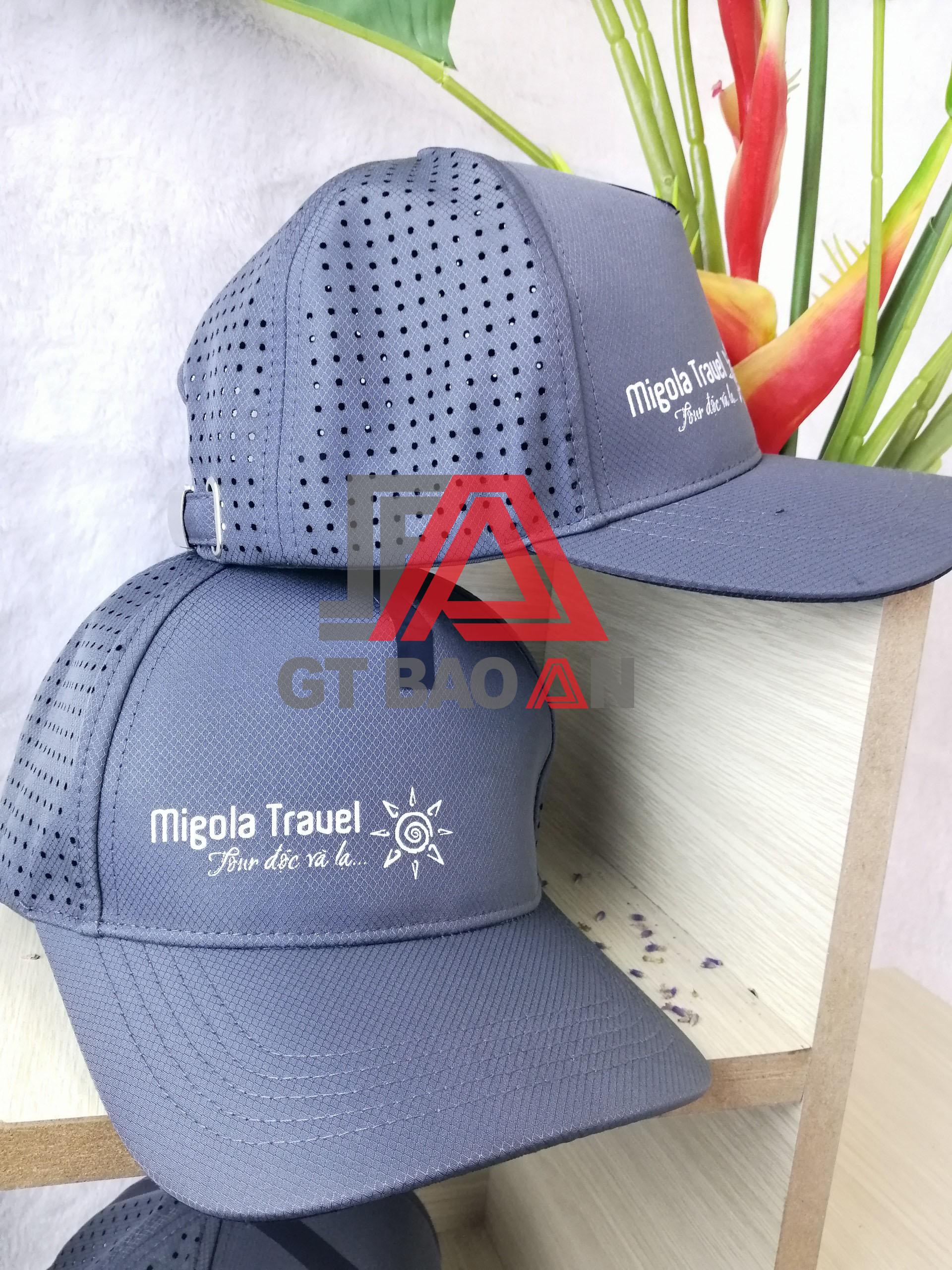 Nón kết quằ tặng Migola Travel