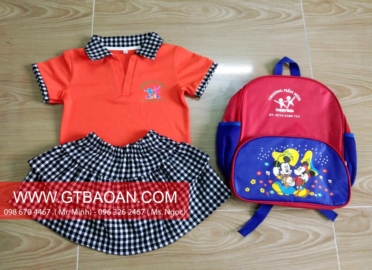 Đồng phục mầm non trường Happy Kids