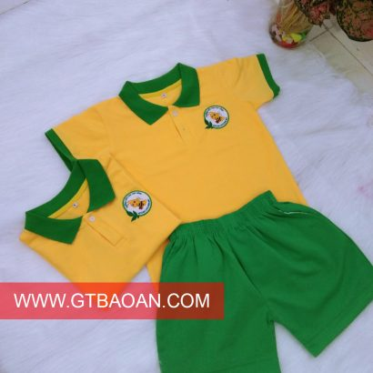 Áo thun đồng phục trường mầm non Ong Vàng