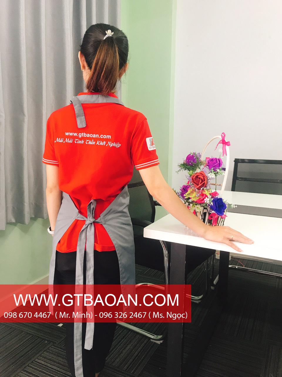 Tạp dề nhân viên phục vụ quán café & tea noo1