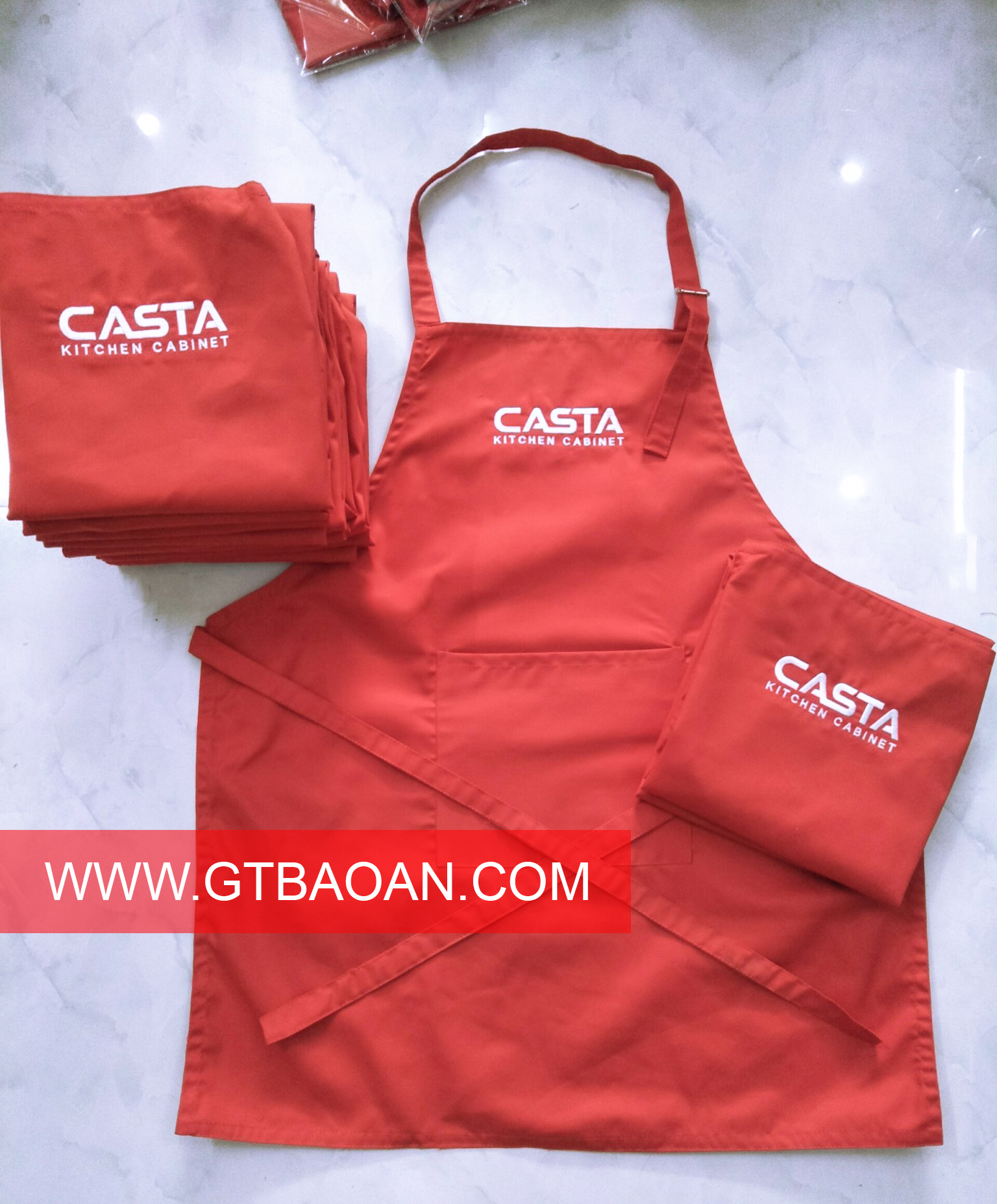 Tạp dề đồng phục nhân viên casta