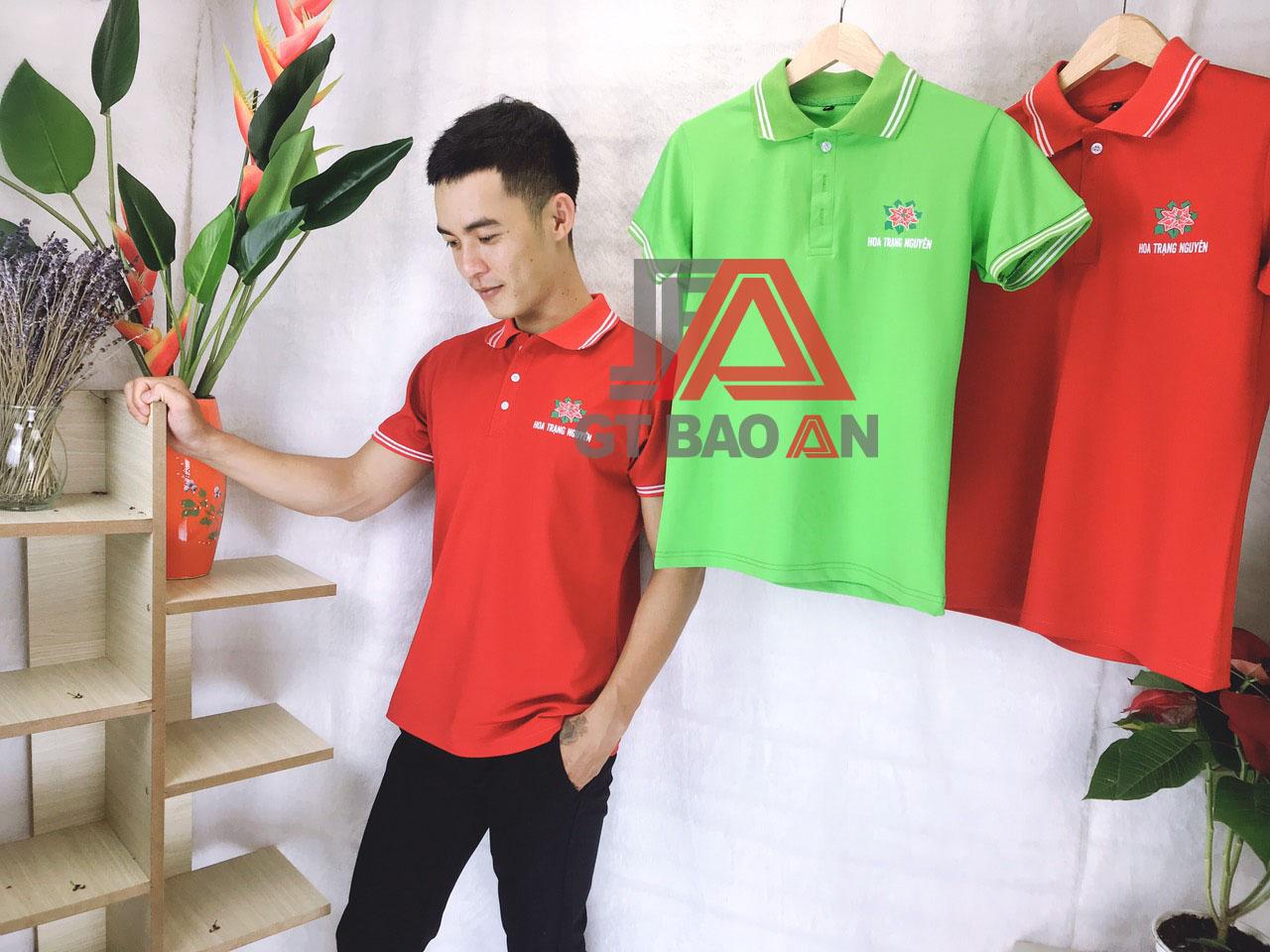 Áo thun cổ trụ đồng phục Hoa Trạng Nguyên
