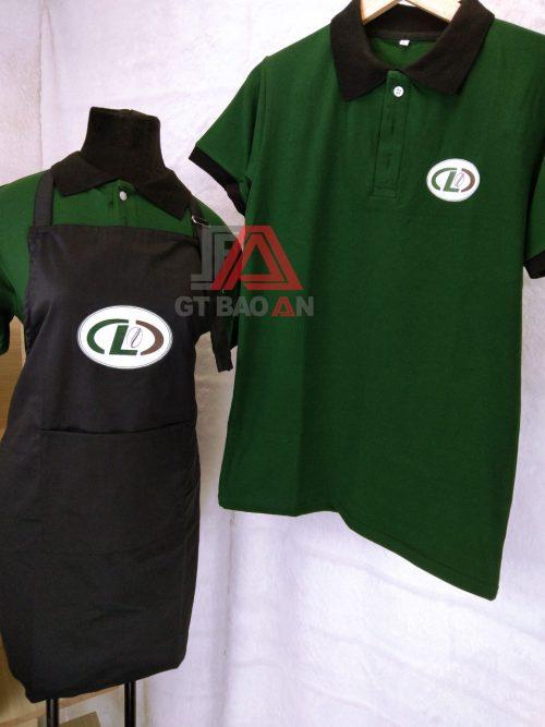 Đồng phục áo thun cổ trụ nhân viên quán café