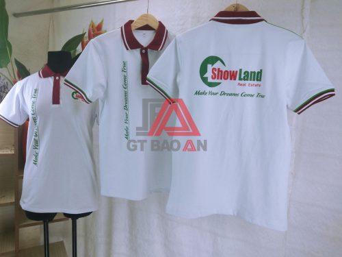Áo thun cổ trụ đồng phục công ty Show Land