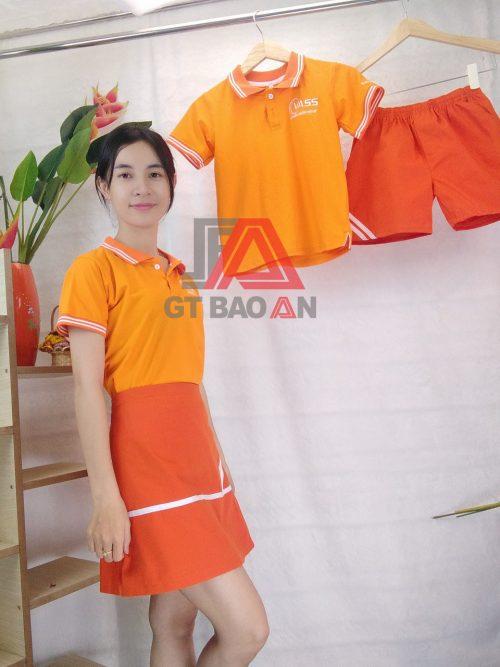 Áo thun cổ trụ đồng phục học sinh Vass Việt Mỹ