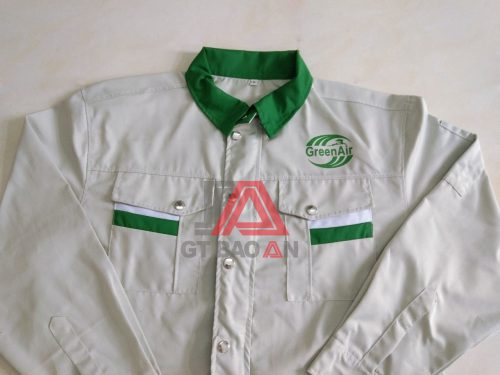 Áo bảo hộ lao động công ty Green Air