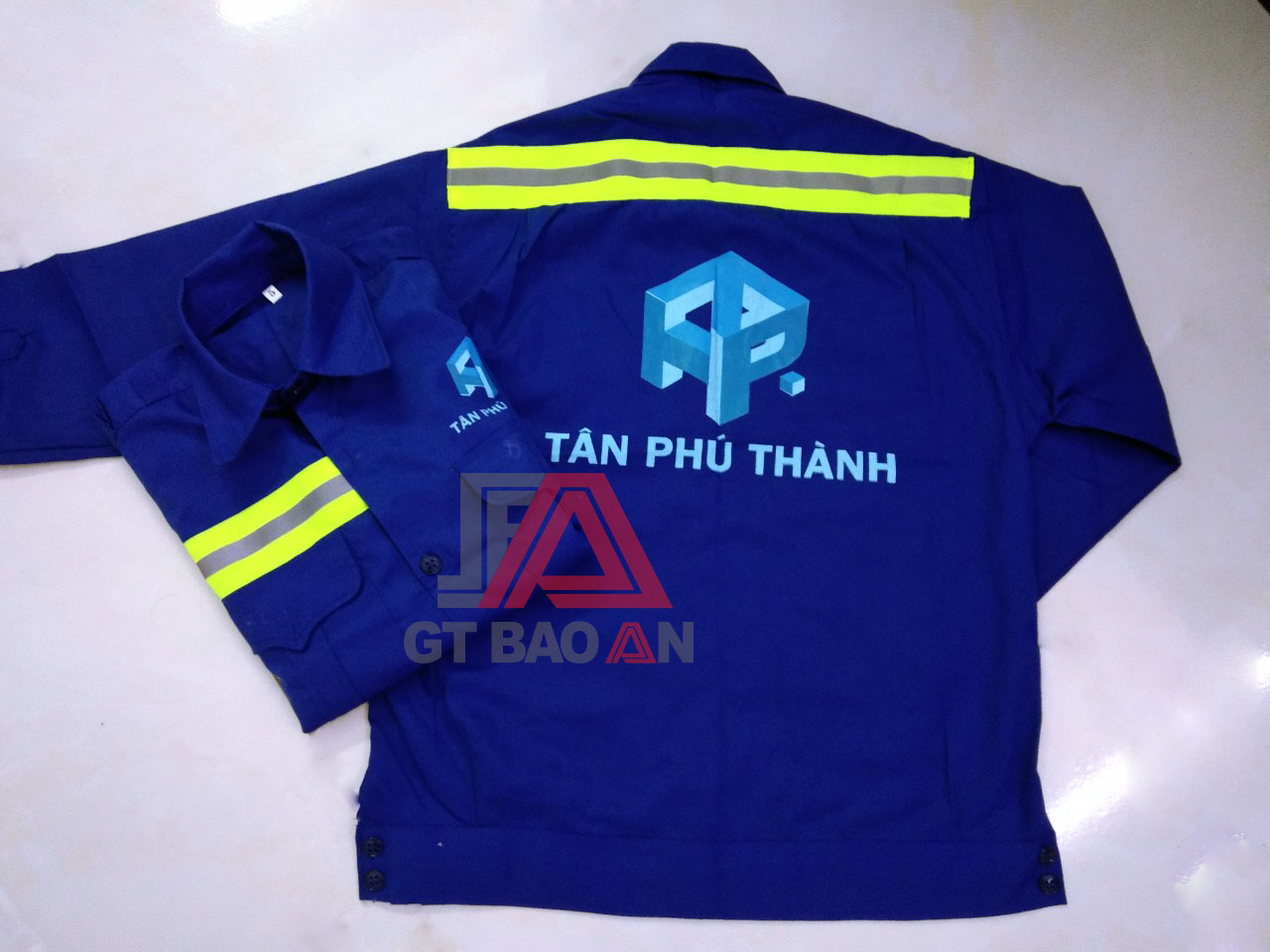 Áo bảo hộ lao động đồng phục công ty Tân Phú Thành