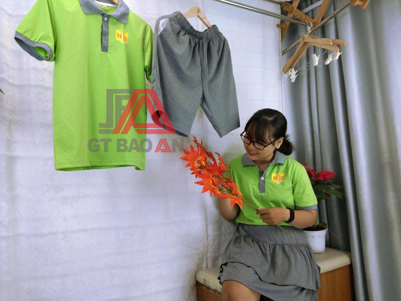 Đồng phục thể dục học sinh trường Nguyễn Thái Bình