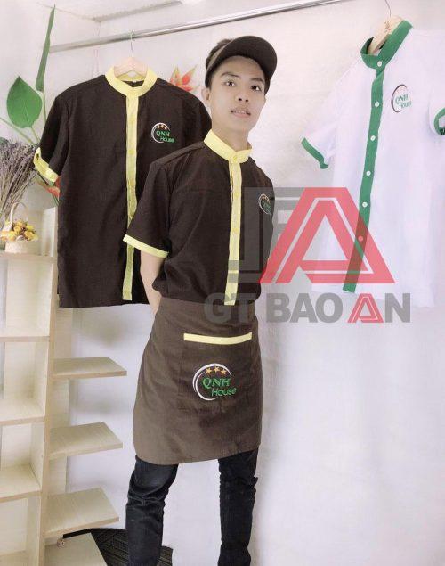 Áo sơ mi đồng phục nam nữ quán cafe