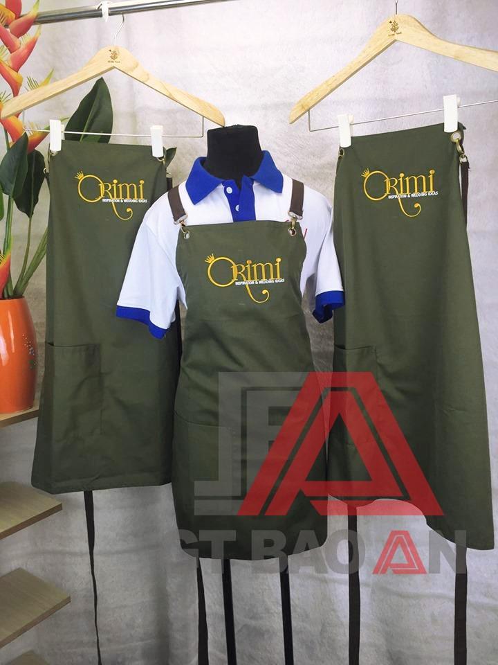 Tạp dề đồng phục nhân viên Nail & Spa