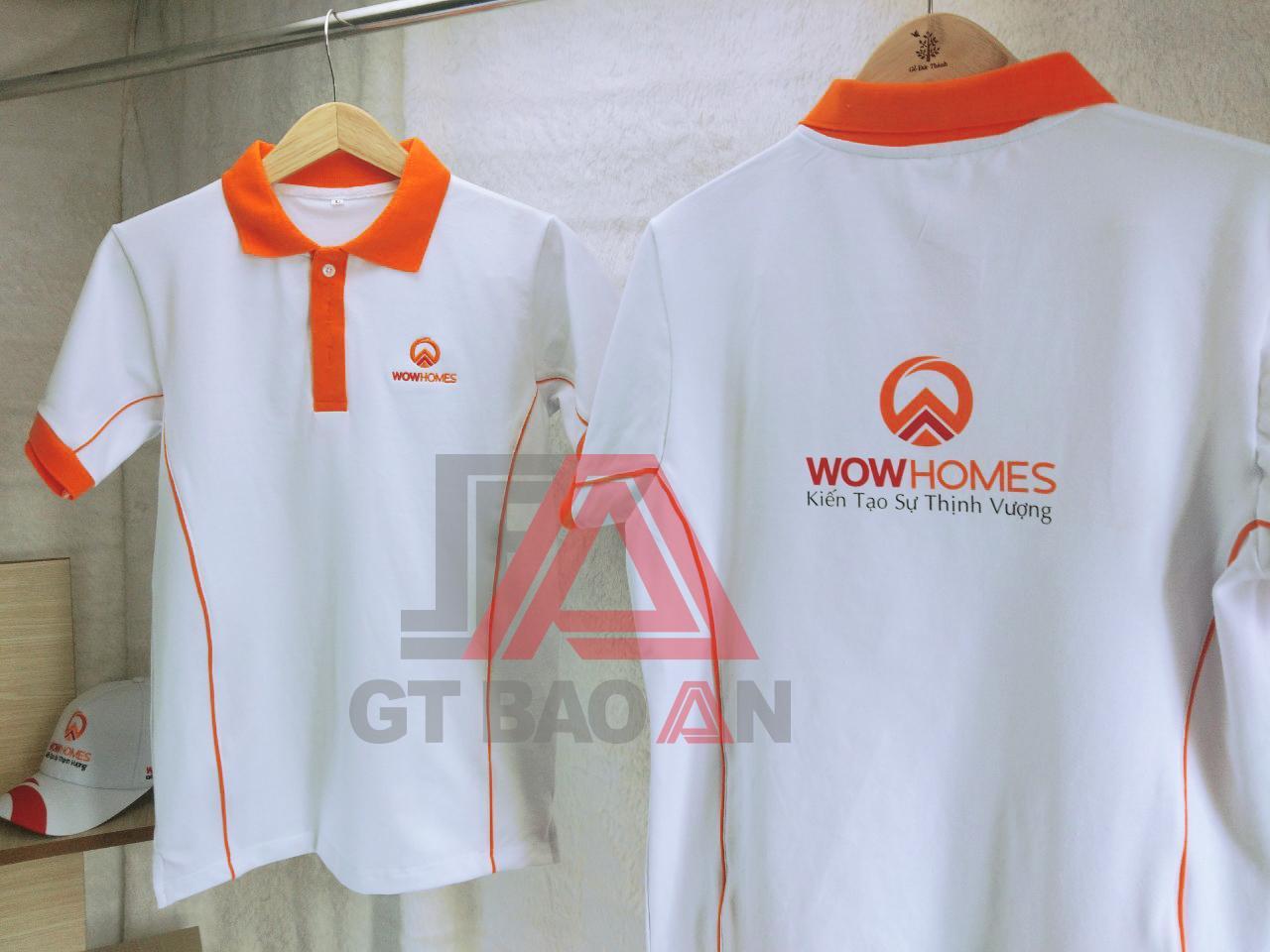 Áo thun đồng phục nhân viên công ty WowHomes