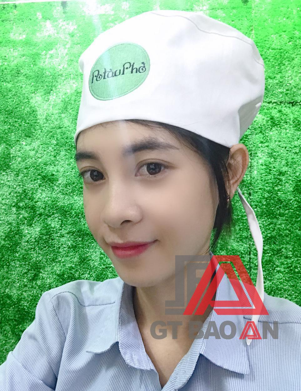 Nón bếp đồng phục nhân viên - PoTauPho