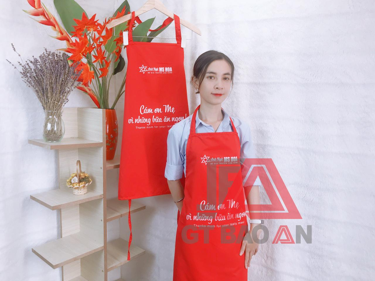 Tạp dề dù chống thấm cho nhân viên bếp