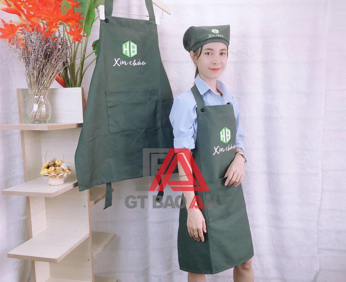 Tạp dề, nón đồng phục nhân viên phục vụ