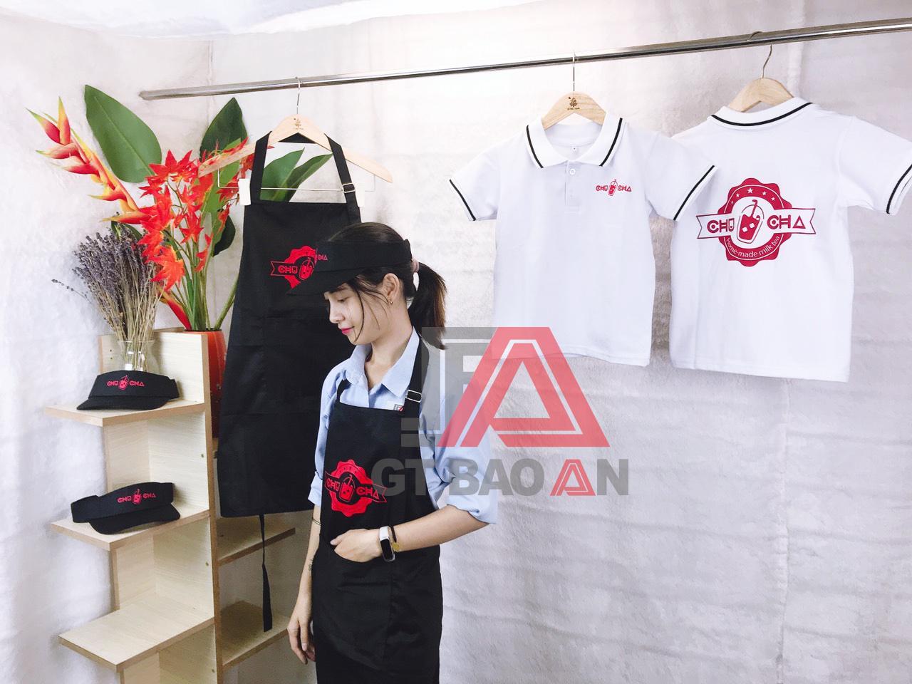 Đồng phục nhân viên quán trà sữa Chu Cha