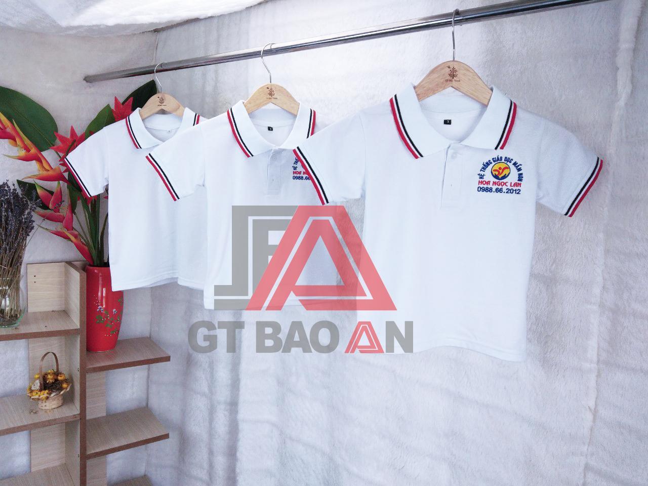 Áo thun đồng phục trường mầm non Hoa Ngọc Lan