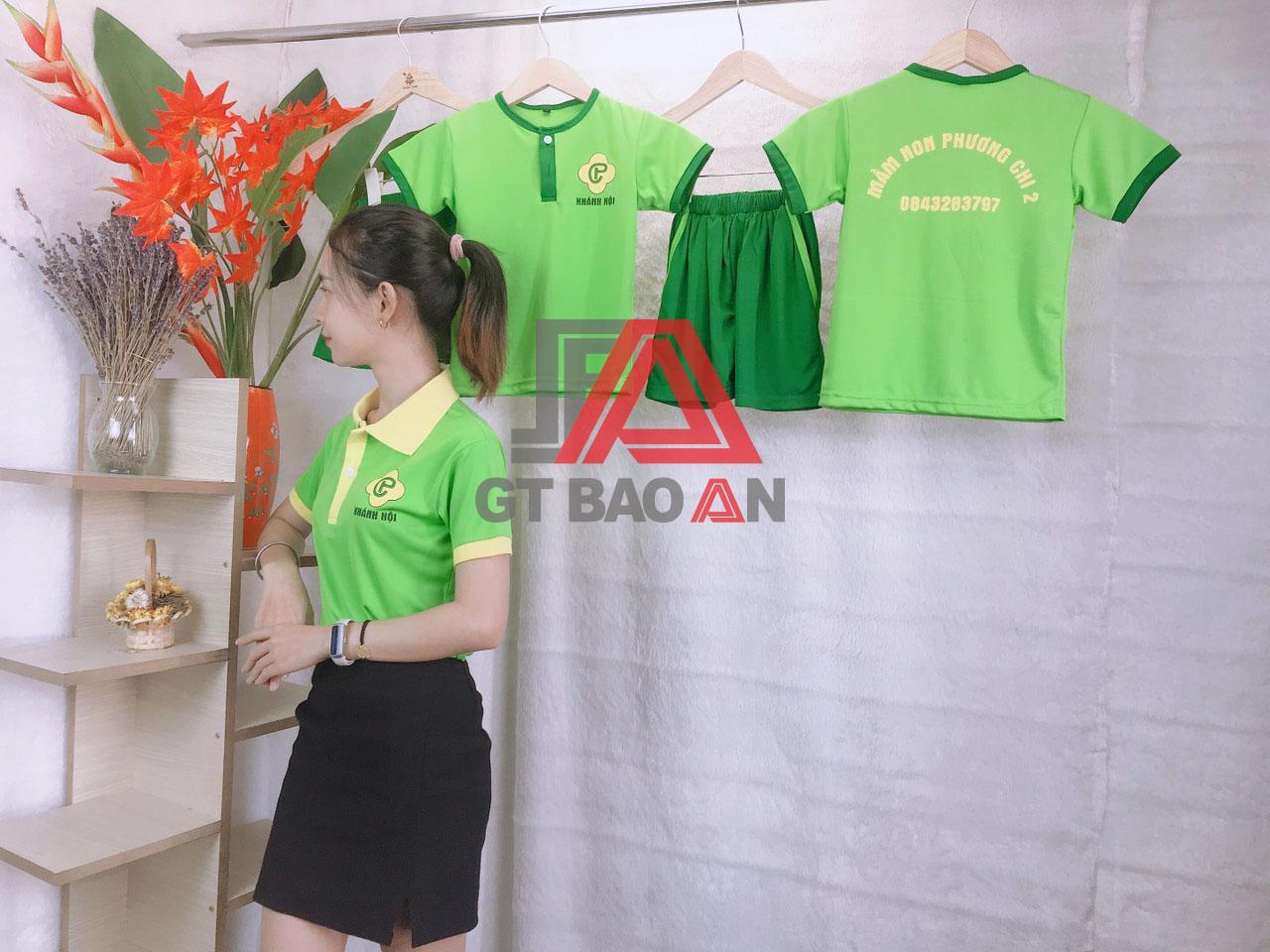 Áo thun trường mầm non-mẫu giáo Khánh Hội