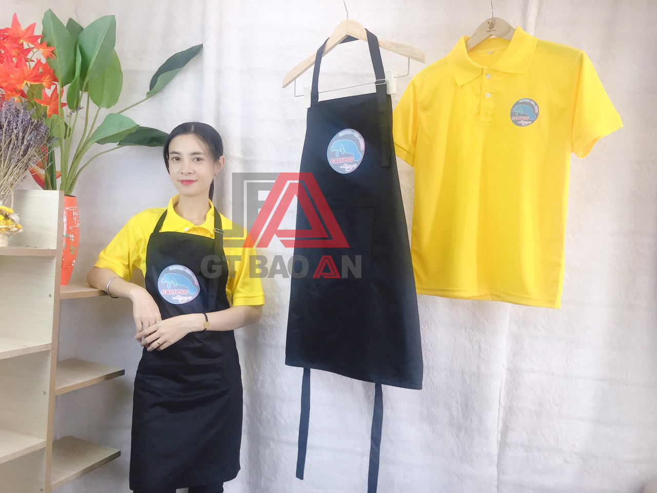 Đồng phục nhân viên phục vụ quán café