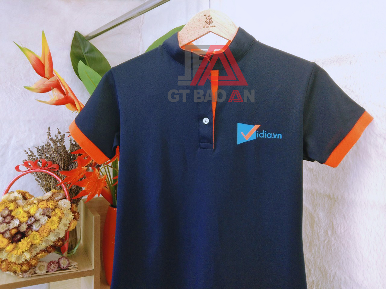 Đồng phục áo thun nhân viên công ty VIDIA