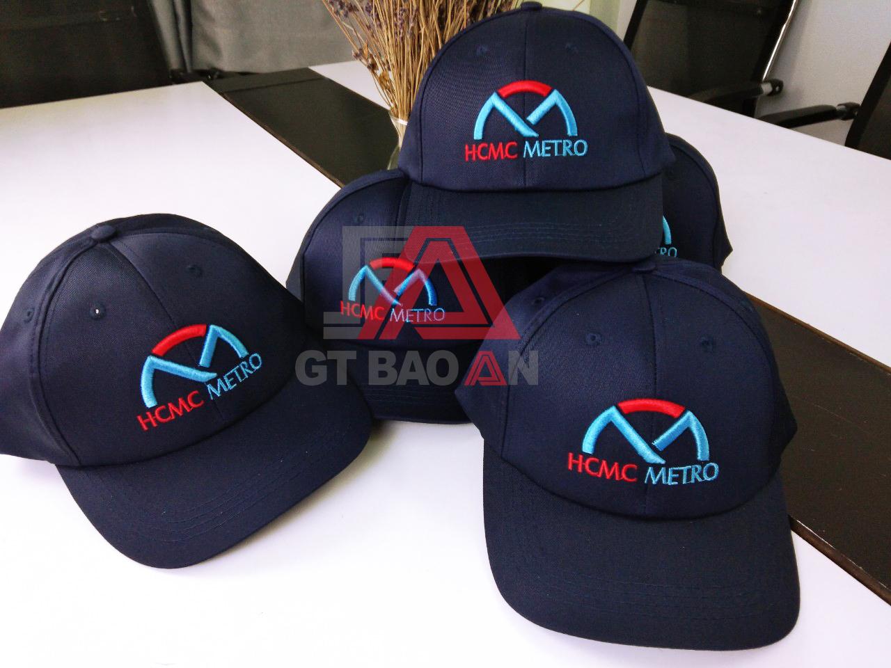 Nón kết đồng phục nhân viên công ty HCMC METRO