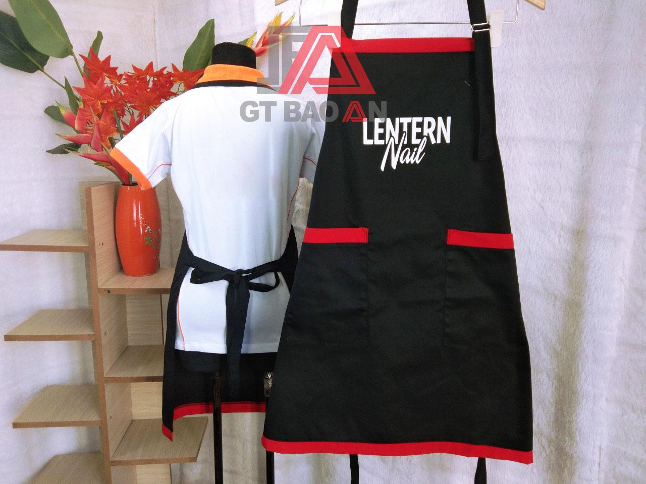 Tạp dề đồng phục nhân viên tiệm Nail Lentern