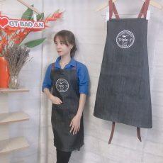 Tạp dề jean đẹp cho nhân viên phục vụ