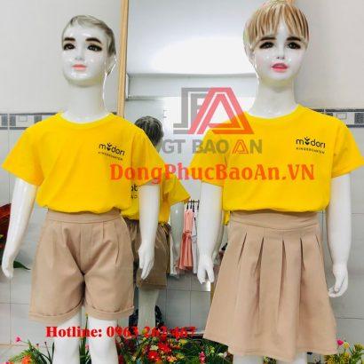 May đồng phục trẻ mầm non Trường Quốc tế Midori Kindergarten